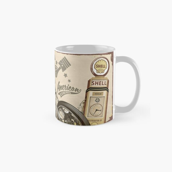 Premium Retro Ford Mustang Motor Racing Oil Can Mug Tea Coffee Mug