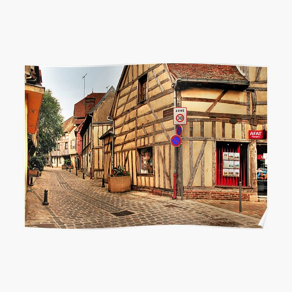 Street in Troyes Poster