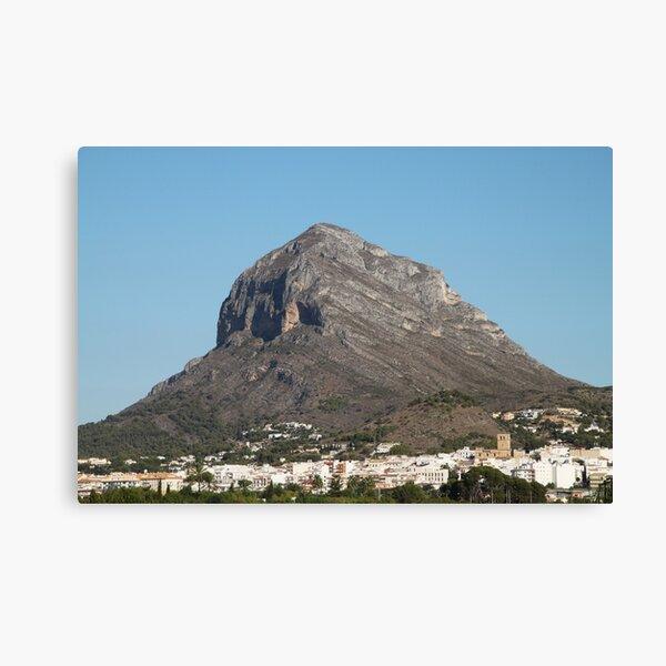 Montgo the Elephant Mountain, Javea Spain Canvas Print