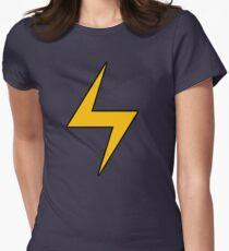 Lightning Bolt Logo Emblem Womens Fitted T-Shirt