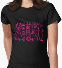 Children Pink Graphic Design Women's Fitted T-Shirt