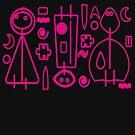 Children Pink Graphic Design by MaluC