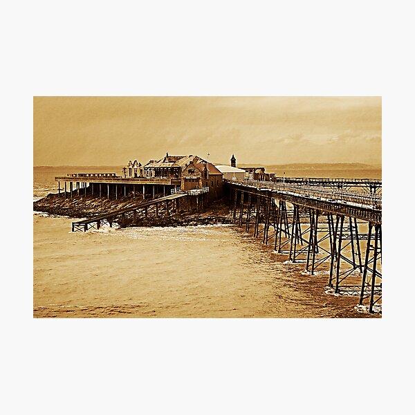 Birnbeck Pier, Weston-Super-Mare, UK Photographic Print