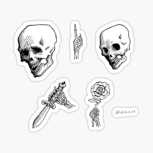 Skulls and Bony Hands Sticker