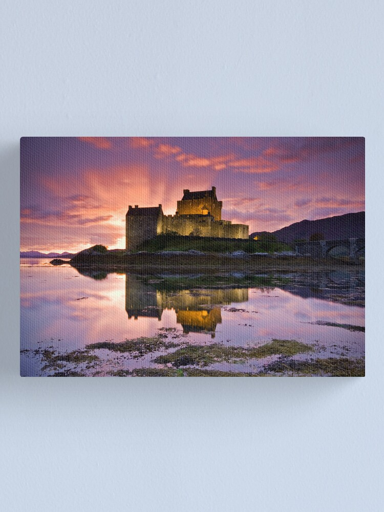 Alternate view of Scotland: Eilean Donan Castle Canvas Print