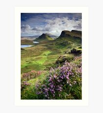 Scotland: My Bonny Heather Art Print