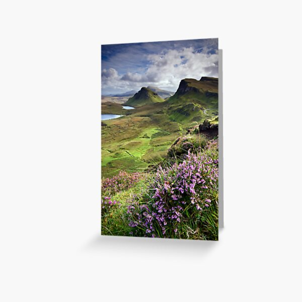 Scotland: My Bonny Heather Greeting Card