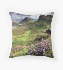 Scotland: My Bonny Heather Throw Pillow