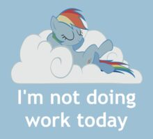 Rainbow Dash does no work