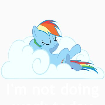 Rainbow Dash does no work by Obler