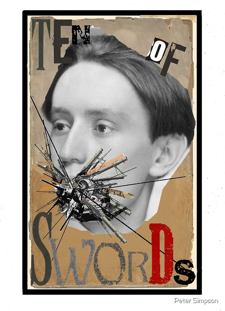 Dada Tarot-Ten of Swords by Peter Simpson