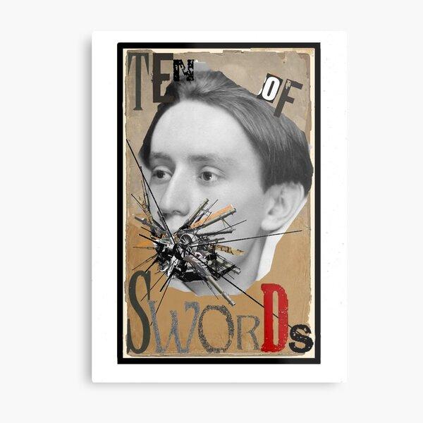 Dada Tarot-Ten of Swords Metal Print