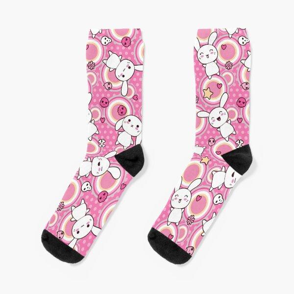 Kawaii Pink Bunny Socks