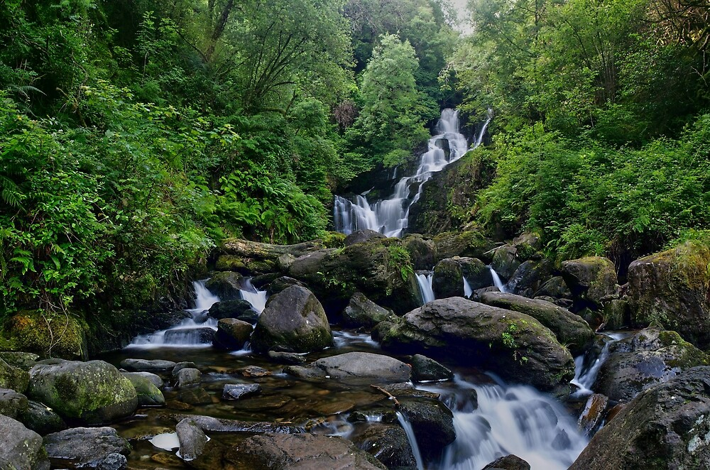 Torc Waterfall, Killarney, Kerry, Ireland by John  Carey