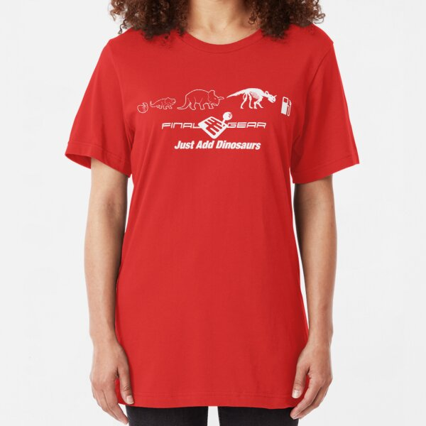 Just Add Dinosaurs Slim Fit T-Shirt