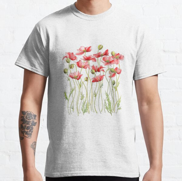 Red Poppies, Illustration Classic T-Shirt