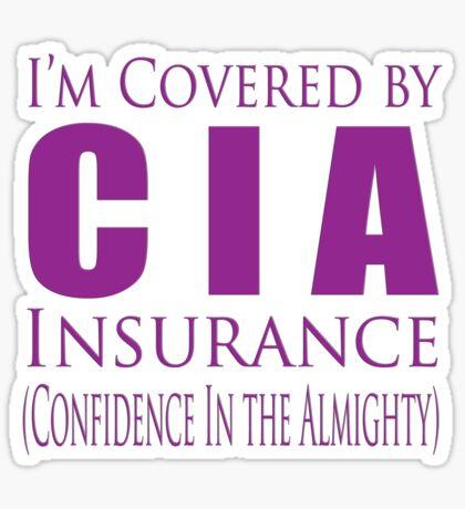 cia insurance Sticker