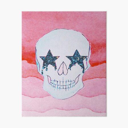STAR SKULL Art Board Print