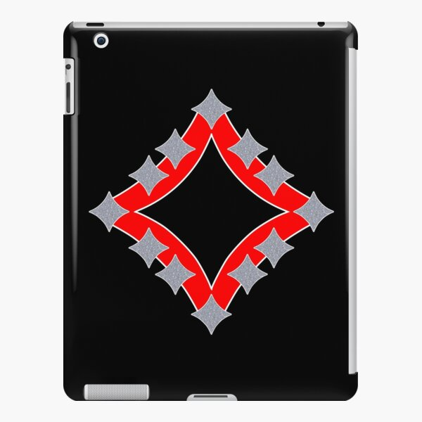 Dancing Silver 4-Point Stars Red Black Face iPad Snap Case