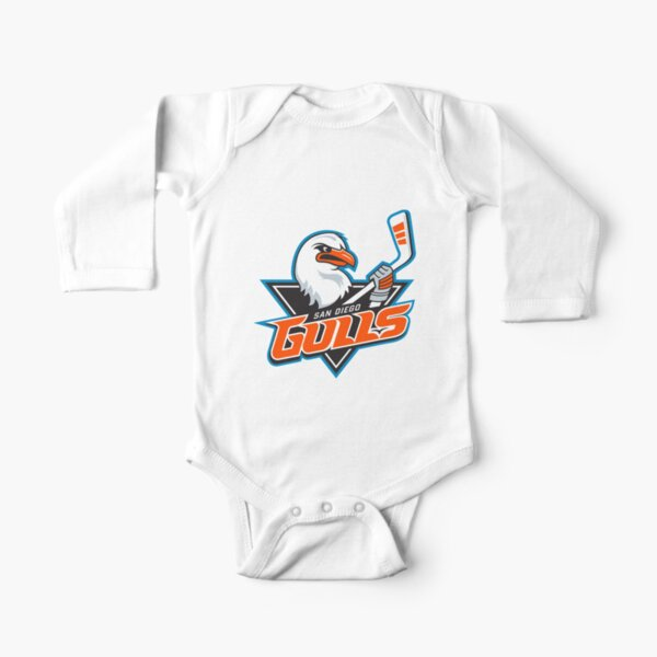 San Diego Gulls Logo Long Sleeve Baby One-Piece