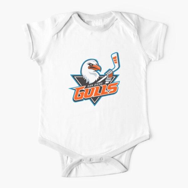 San Diego Gulls Logo Short Sleeve Baby One-Piece