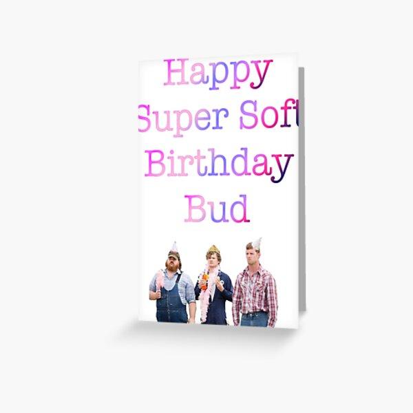 Super Soft Birthday card Greeting Card