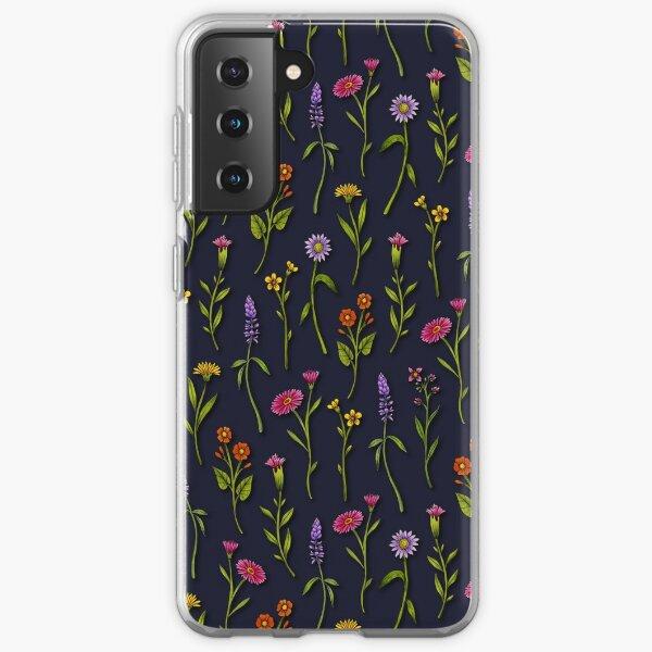 Dainty Wildflowers - Colorful Flower Pattern Samsung Galaxy Soft Case