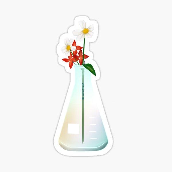 Lab Glassware Florals 2 Sticker
