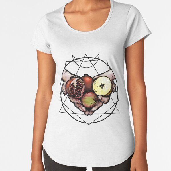 Samhain: The Apple & The Pomegranate Premium Scoop T-Shirt