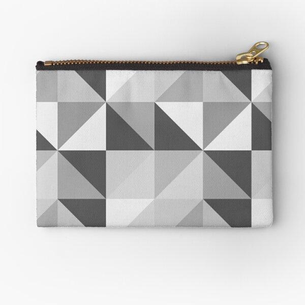Geometric Slate Zipper Pouch