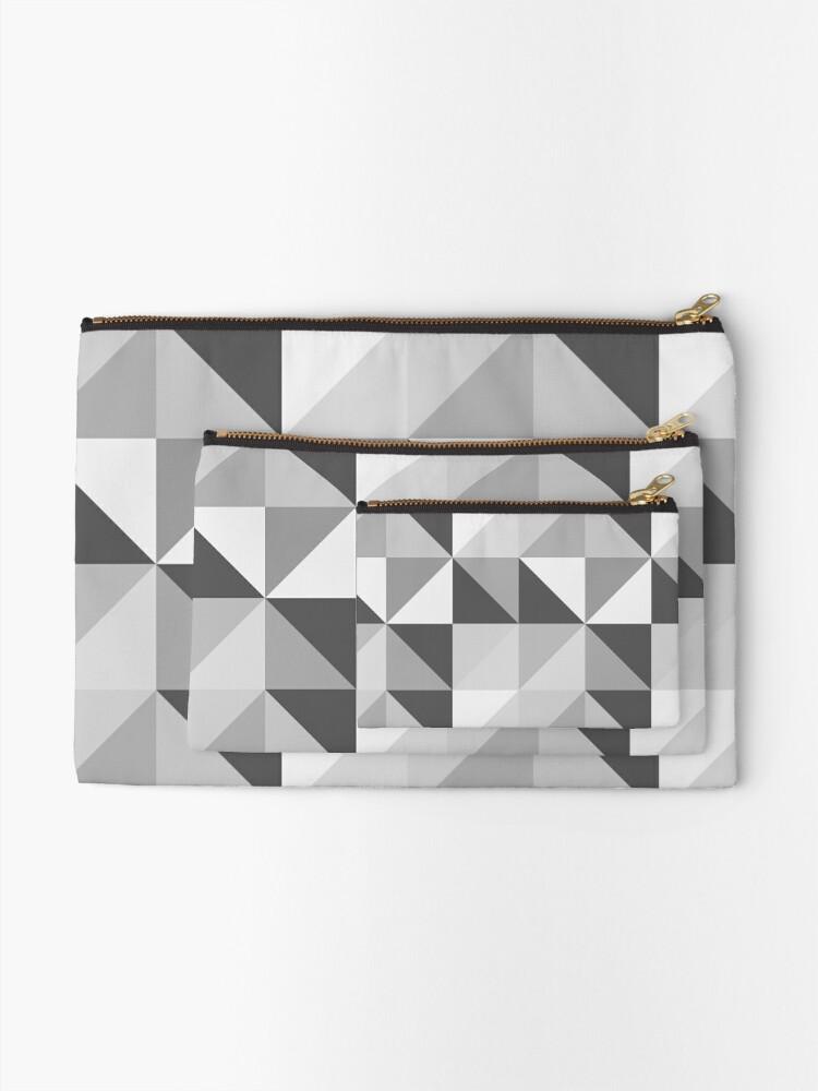 Alternate view of Geometric Slate Zipper Pouch