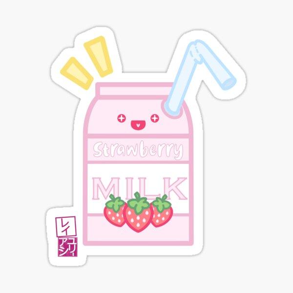 Kawaii Strawberry Milk Sticker