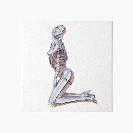 Pose Robot Art Board Print