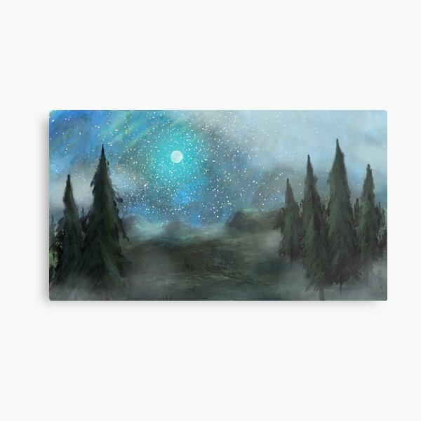 Moon Forest Metal Print