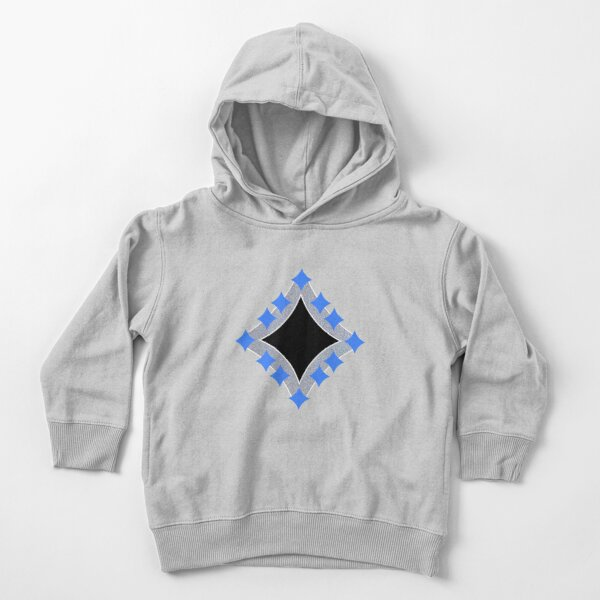 Dancing Blue 4-Point Stars Silver Black Face Toddler Pullover Hoodie