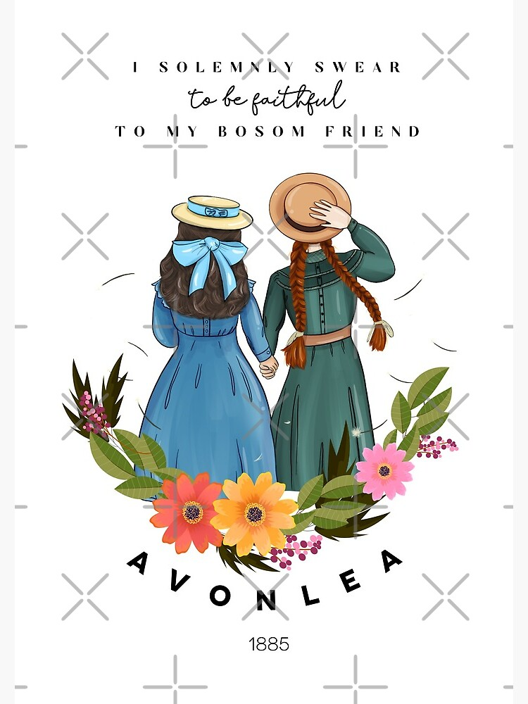 Anne with an E and Diana from Avonlea Green Gables - Best Friends by wearandpaper
