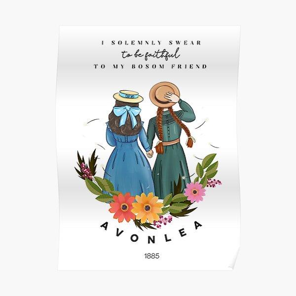 Anne avec un E et Diana d'Avonlea Green Gables - Best Friends Poster