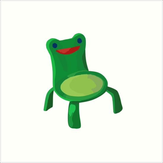Froggy Chair Kunstdruck Von Cappertillar Redbubble