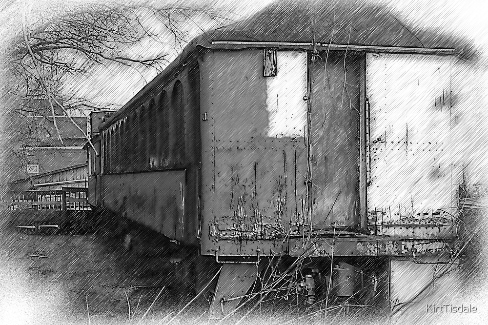 The Old Train Car by KirtTisdale