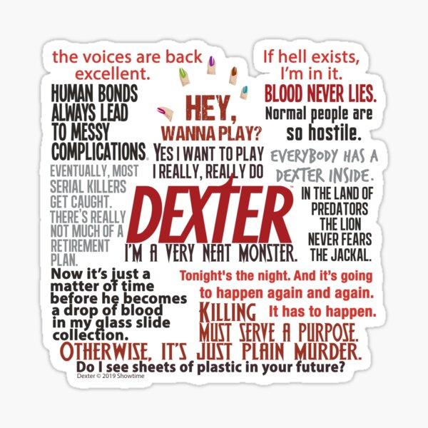 Dexter TV Show Quotes Sticker