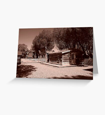 Nevada City Sepia 1 (Montana, USA) Greeting Card