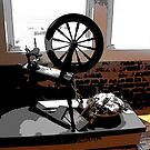 Old Spinning Wheel by Mechelep