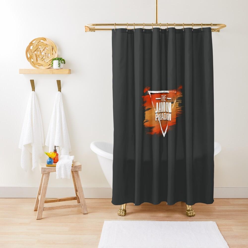 Jamon Paradigm Condensed Logo Shower Curtain