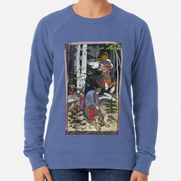 Ivan and the Wolf - Ivan Bilibin Lightweight Sweatshirt
