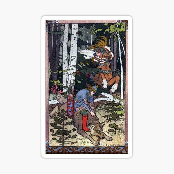 Ivan and the Wolf - Ivan Bilibin Sticker