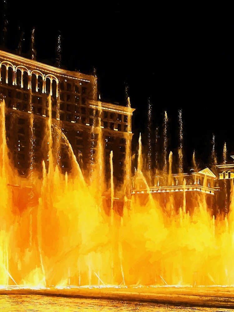 The Dancing Fountains at Bellagio Las Vegas by travelways