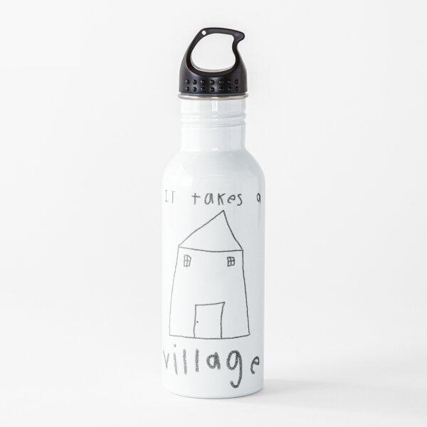 Se necesita un pueblo - texto negro Botella de agua