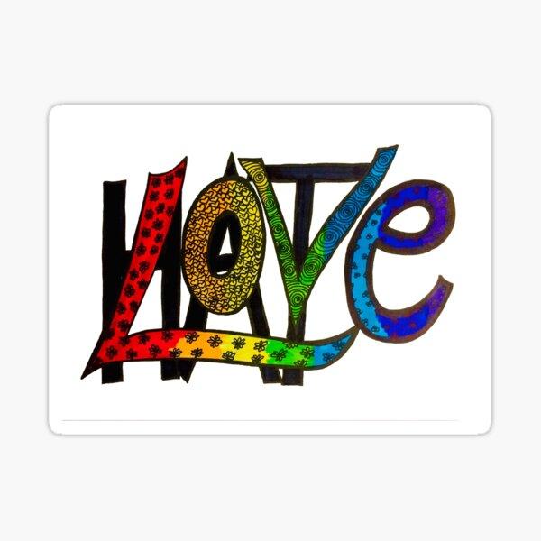 Love Trumps Hate in Color Sticker