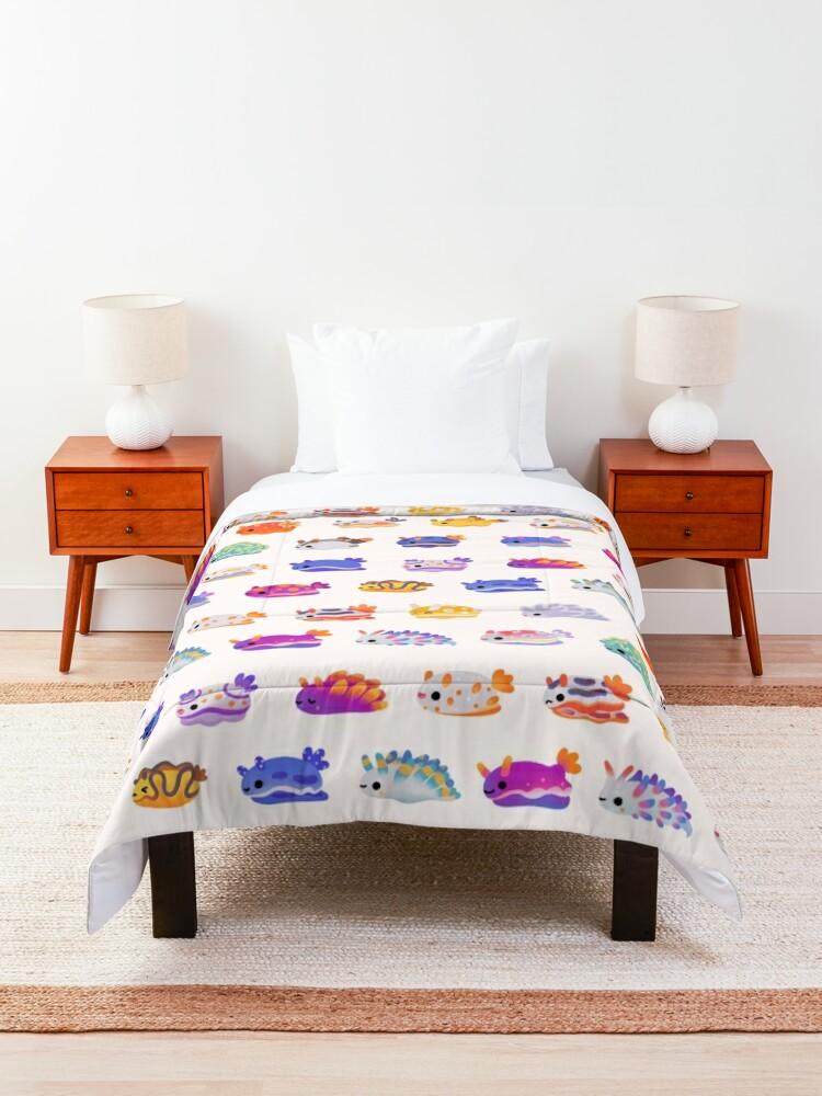 Alternate view of Sea Slug Day - bright Comforter