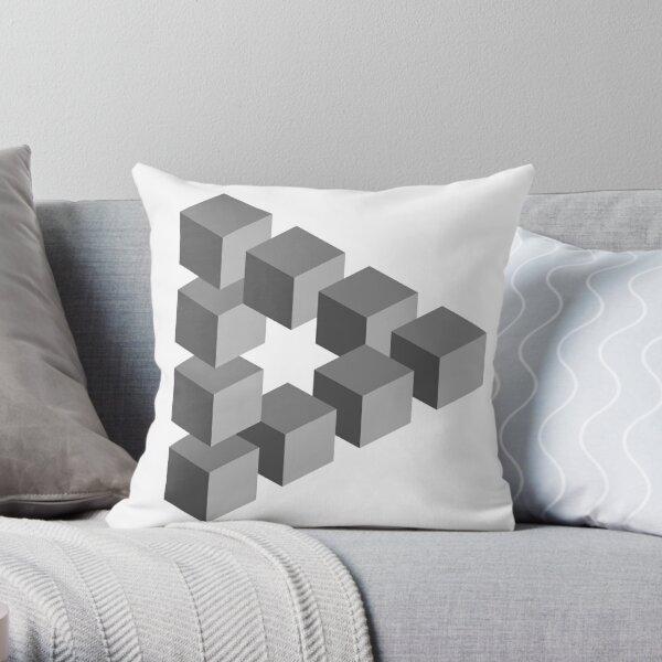 Triangle 2D shape Throw Pillow